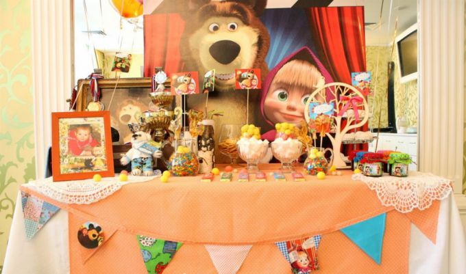 Маша і Ведмідь: як організувати день народження в стилі улюбленого мультика